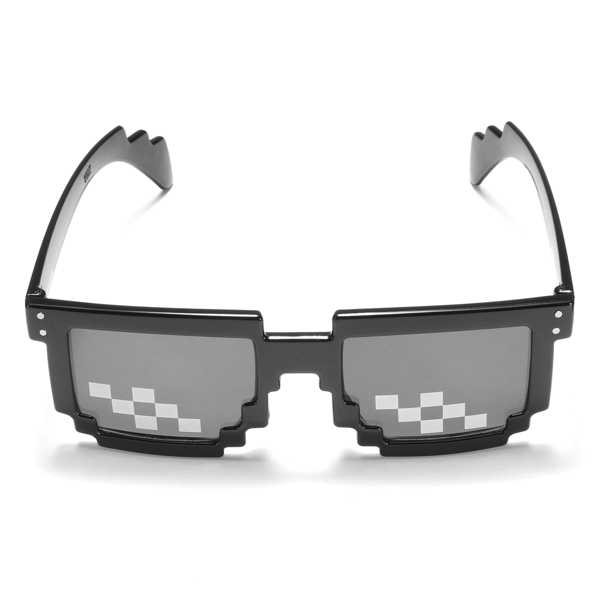 BIKIGHT Retro Freestyle Glasses Thug Life Pixel Fashion Glasses Unisex Sunglasses Black