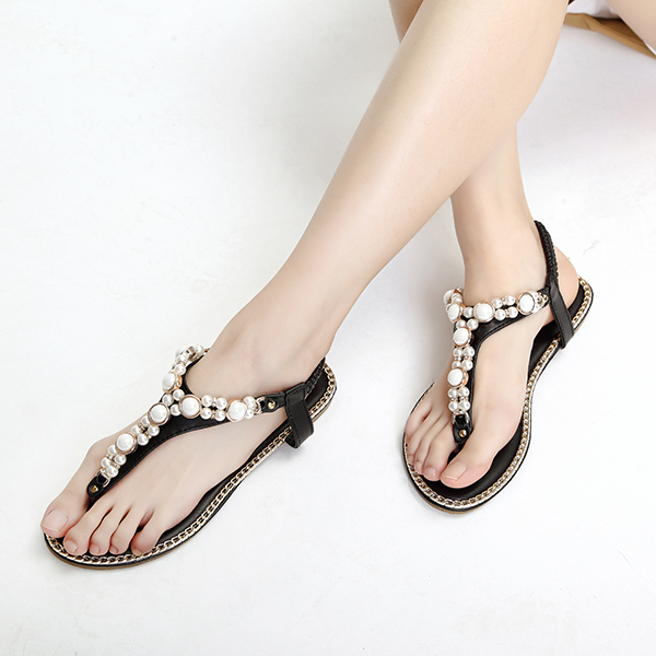 US Size 5-11 Women Sandals Shoes Casual Beach Outdoor Flats