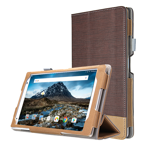 PU Leather Tri-fold Stand Case Cover for Lenovo Xiaoxin TB-8804F Tablet