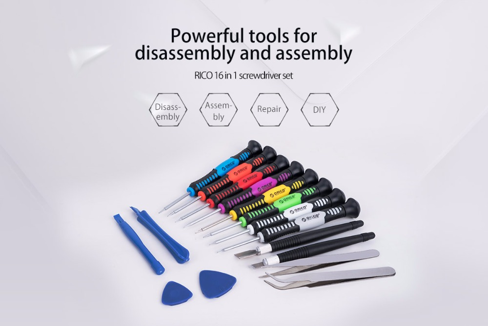ORICO ST6 16 in 1 Multifunction Screwdriver Set Hand Repair Tools for Pad Mobile Phone PC Tablet