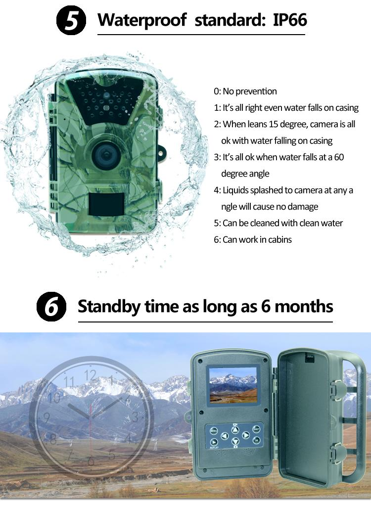 KALOAD Hunting TC03 Digital Detection Trail Wildlife Infrared Night Vision Game Waterproof Camera