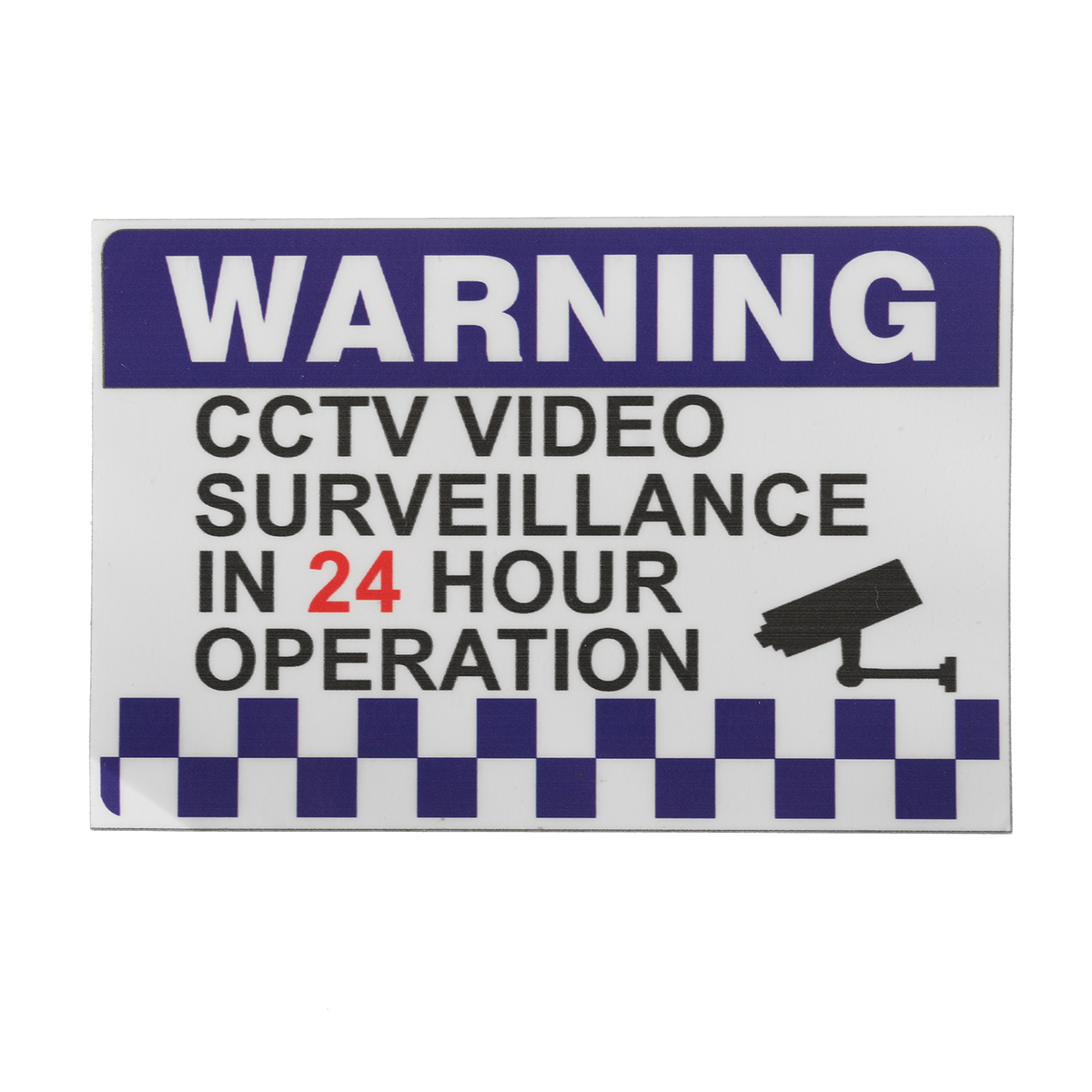 100x150mm Internal Warning CCTV Security Surveillance Camera Decal Sticker