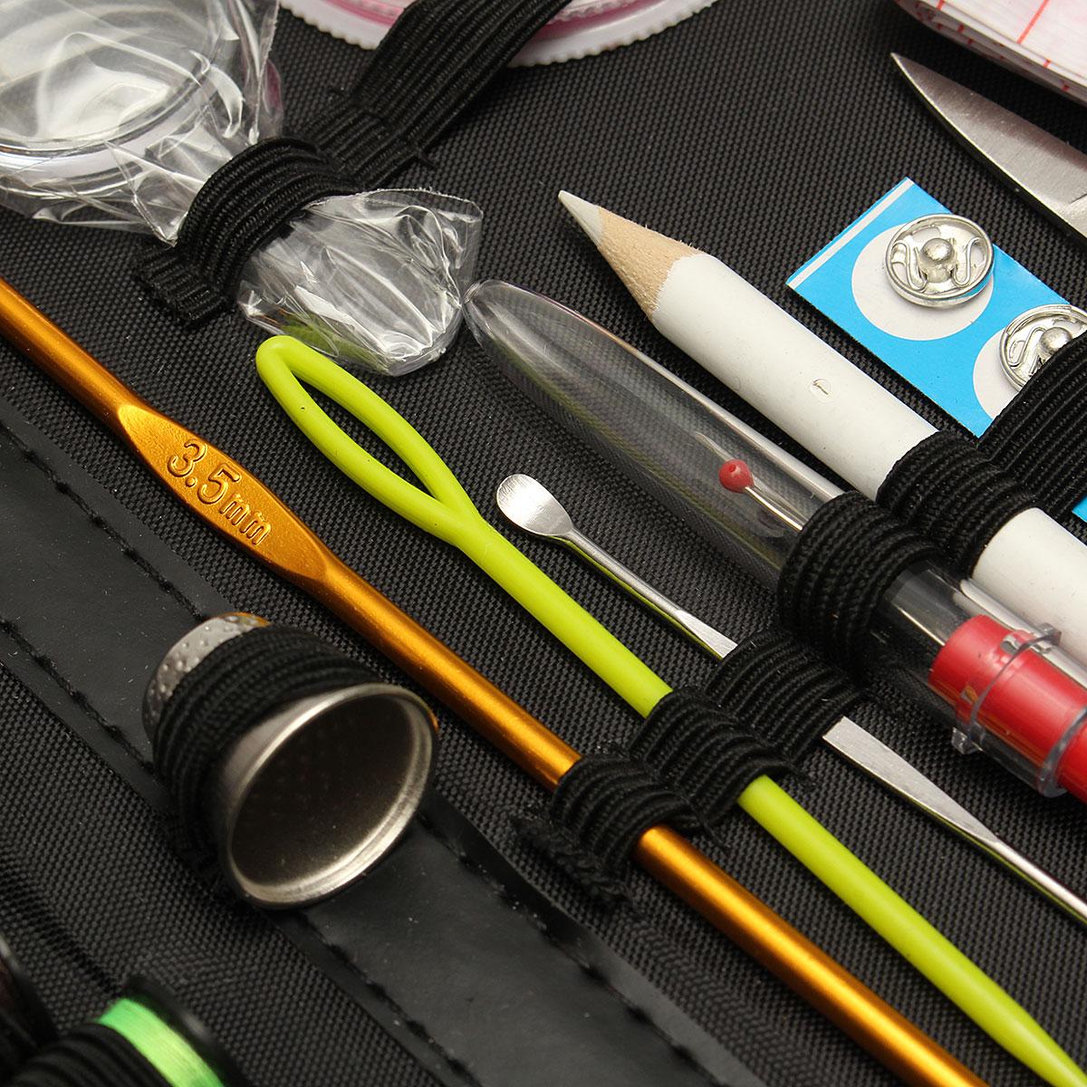 Multifunctional Sewing Kit Thread Threader Needle Tape Measure Scissor Storage Set