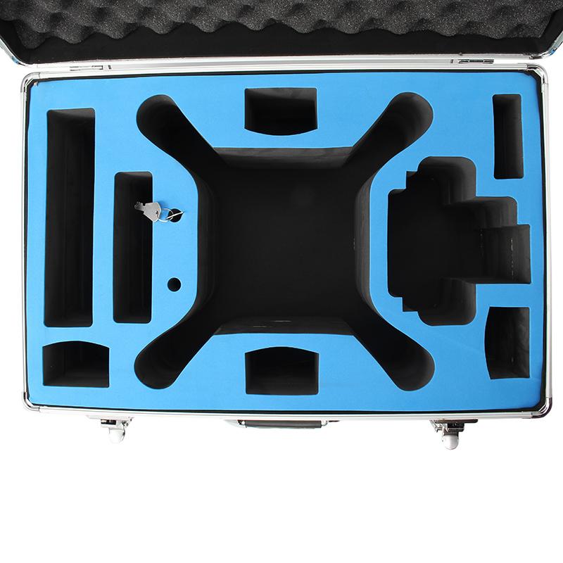 Realacc Aluminum Trolley Carrying Case Pull Rod Hand Box Case For DJI Phantom 4/ DJI Phantom 4 Pro