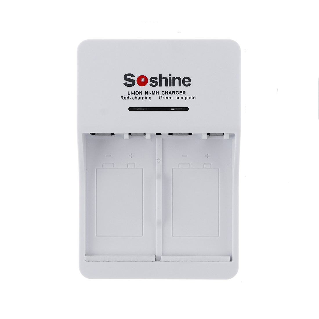 Soshine V1 9V Li-ion Ni-MH 2 Slot Rechargeable Battery Charger