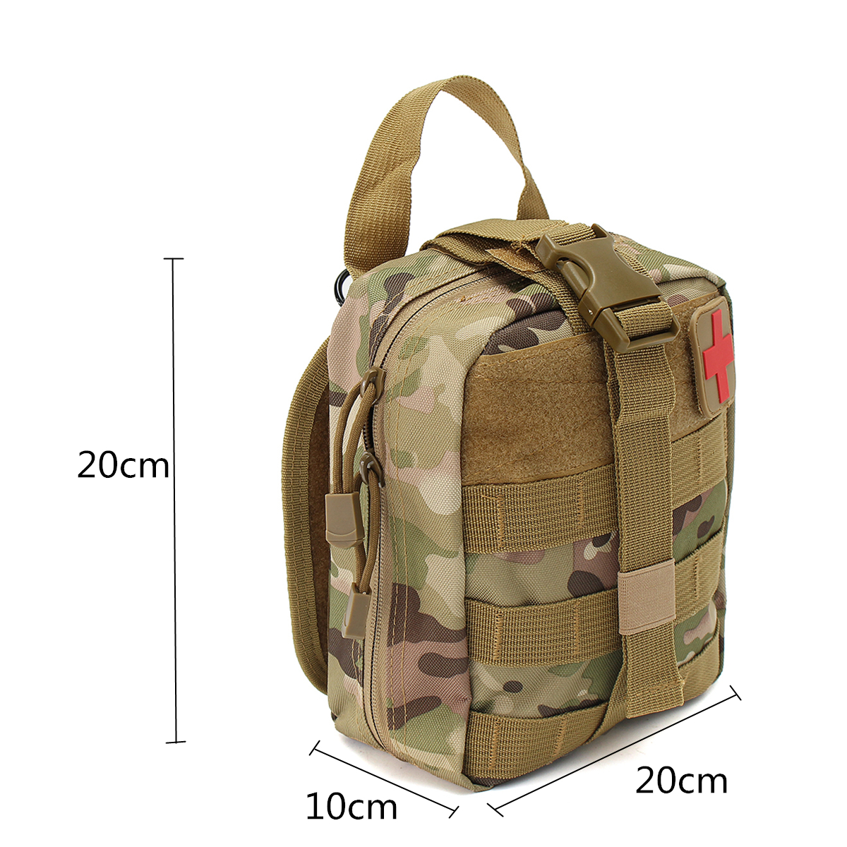 IPRee® EDC 900D Nylon Tactical Molle Bag Medical First Aid Utility Emergency Storage Pouch