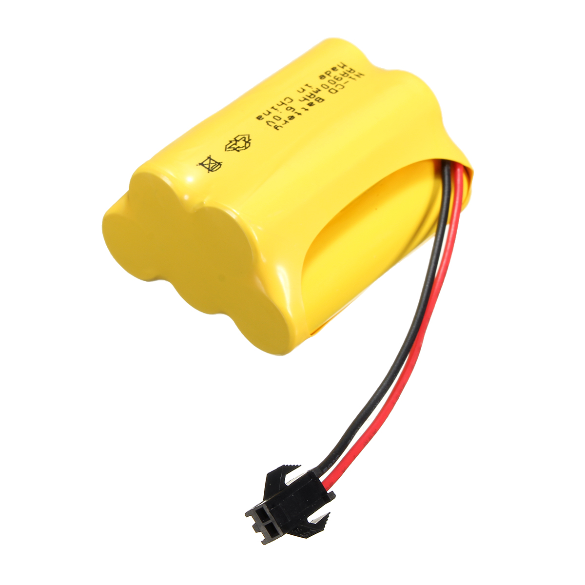 Ni-Cd 6V 900mAh SM2P Plug Rechargeable Battery Solar Light For Racing Remote Control Car Toy