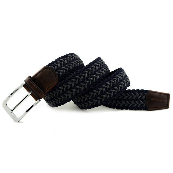 Men Women Unisex Casual Woven Braided Stretch Elastic Belt Waistband