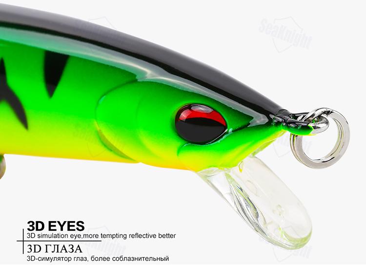 SeaKnight SK019 1PC 12g 115mm 0-3.0m Depth Fishing Lure Minnow Floating Hard Bait Fishing Tools