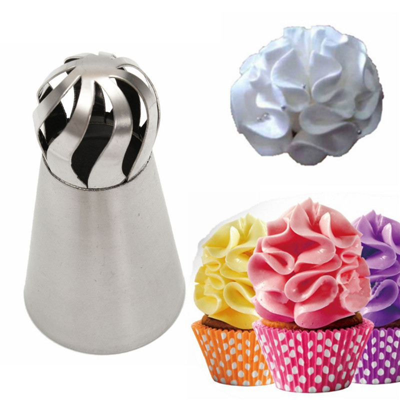 9Pcs Cream Stainless Steel Icing Piping Nozzles Pastry Tips Sphere Ball Shape Cup Cake Decorating
