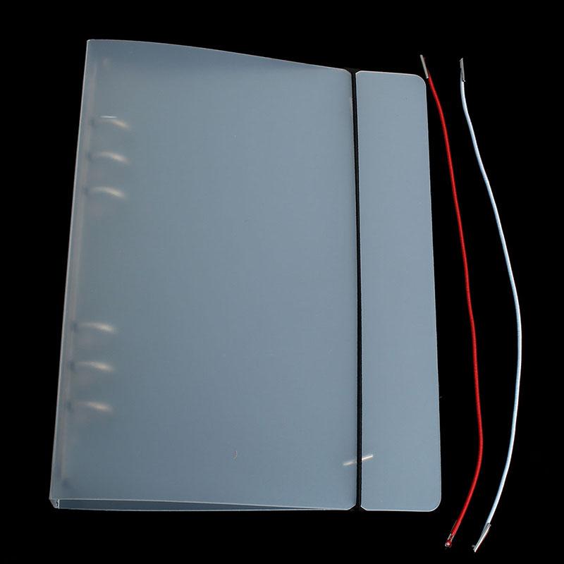 A5 A6 A7 Matte Translucent PP Loose Leaf Spiral Binder Cover Office School Supply