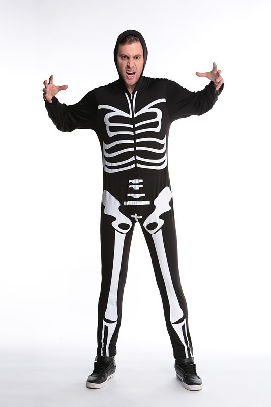 Game Uniforms Halloween Party Skeleton Conjoined Clothing Men and Women Couples Skull Suits