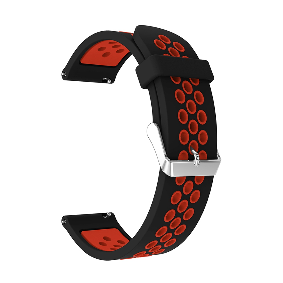 Bakeey Silicone Double Color Round Metal Buckle Watch Band for Samsung Galaxy Smart Watch 46mm
