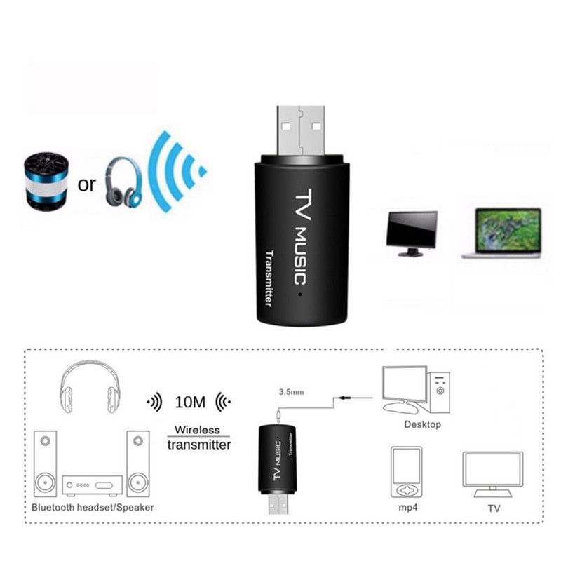 BT35F05 USB Wireless bluetooth Stereo Music Audio Adapter For Smart TV/Computer/DVD/MP3