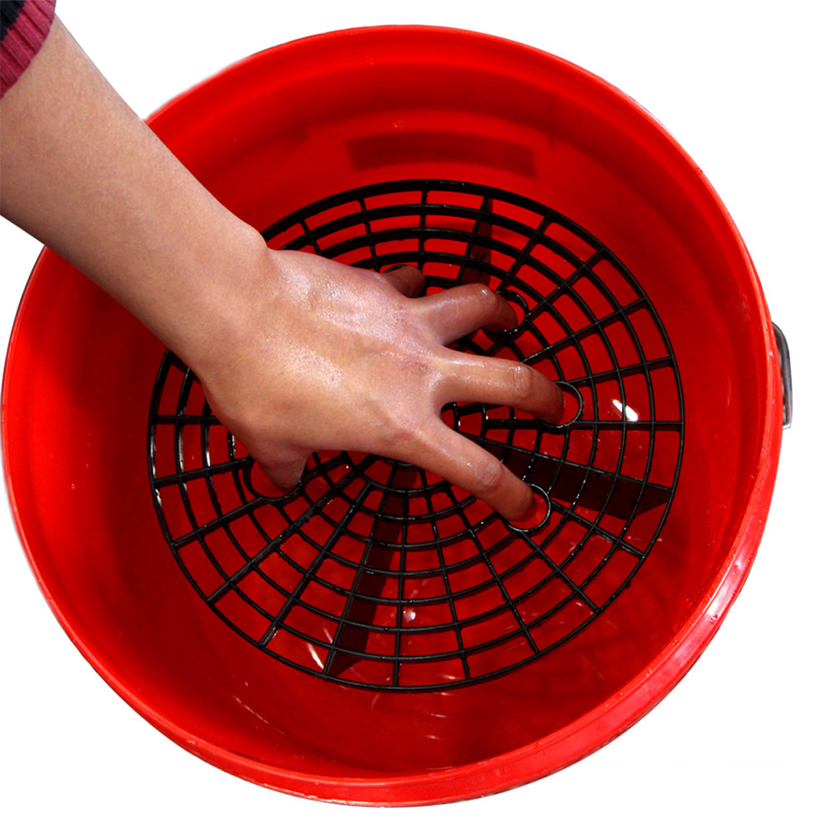 Plastic Car Wash Grit Guard Insert Washboard Water Bucket Filter Scratch Dirt Preventing Tool