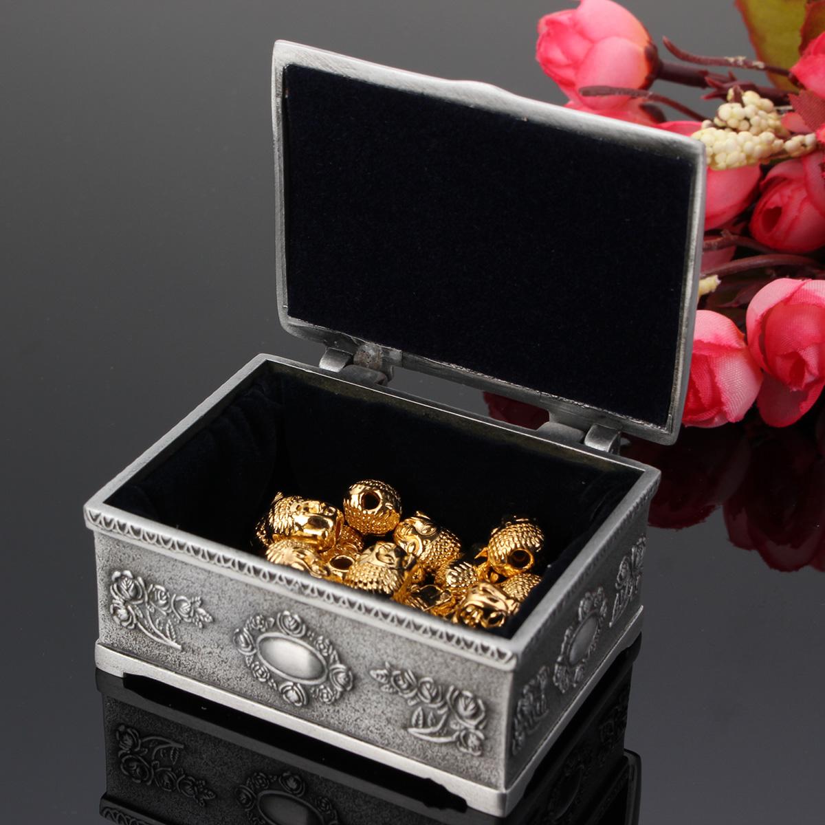 Vintage Bracelet Earrings Necklace Jewelry Gift Storage Box Case Holder