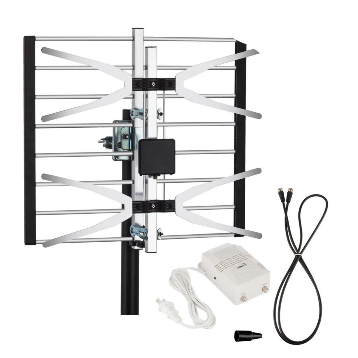 Yehfly TLPA16B 120 Miles Digital Amplified Signal TV Aerial Antenna