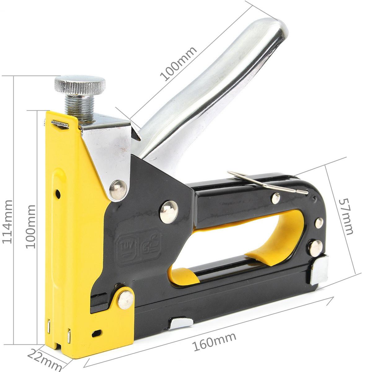 Multipurpose Three-way Shooting Staple Gun Yellow Stapler Staple