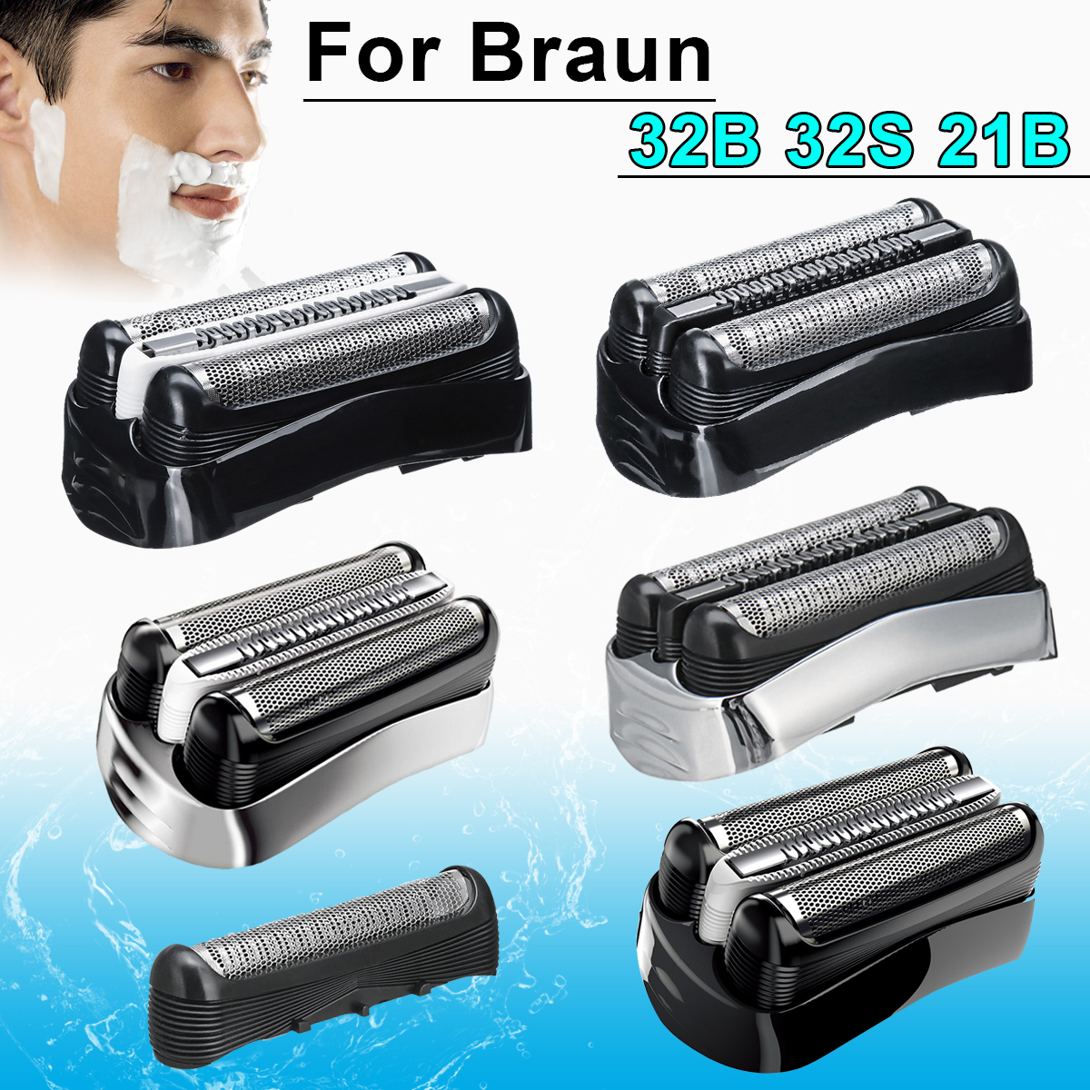 Replacement Foil Head For Braun 32B 32S 21B Series