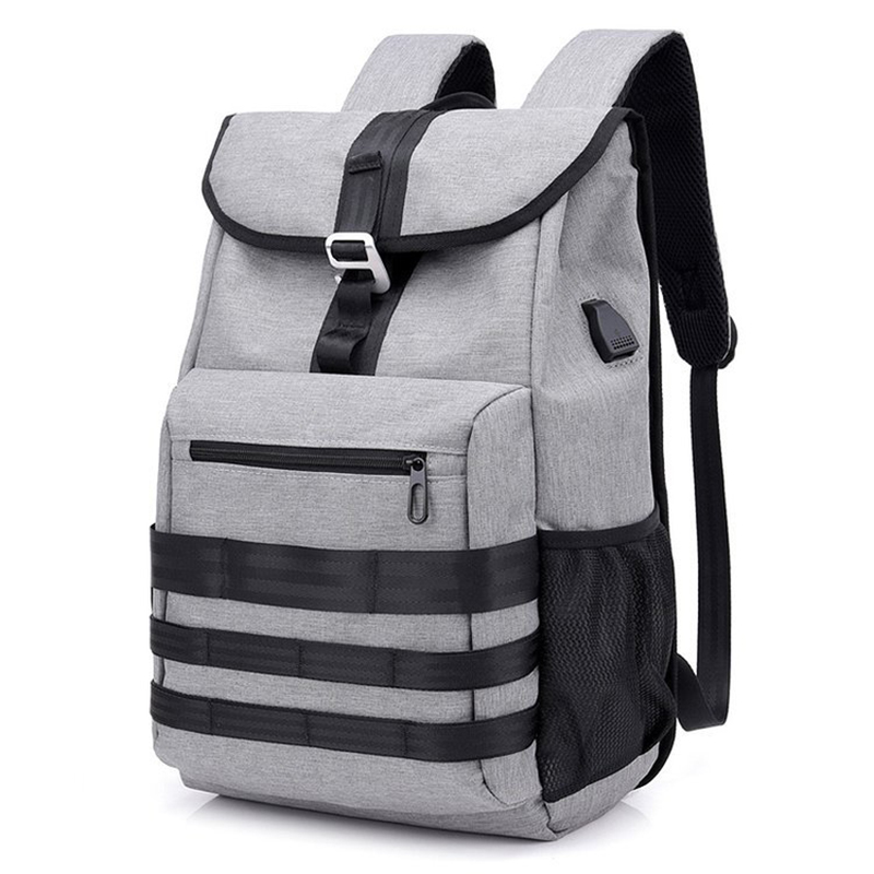 Oxford Large Capacity Backpack USB Multi-function Bag