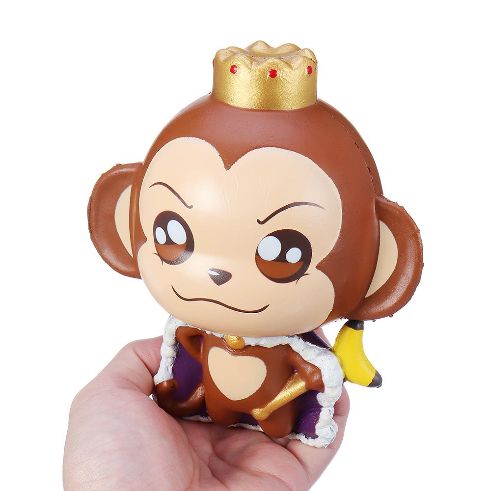 Puni Maru Squishy Monkey King Cheeki BananaLicensed Slow Rising Toy With Packaging Box