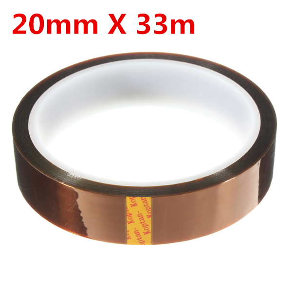 20mm 33m High Temperature Heat Resistant Polyimide Gold