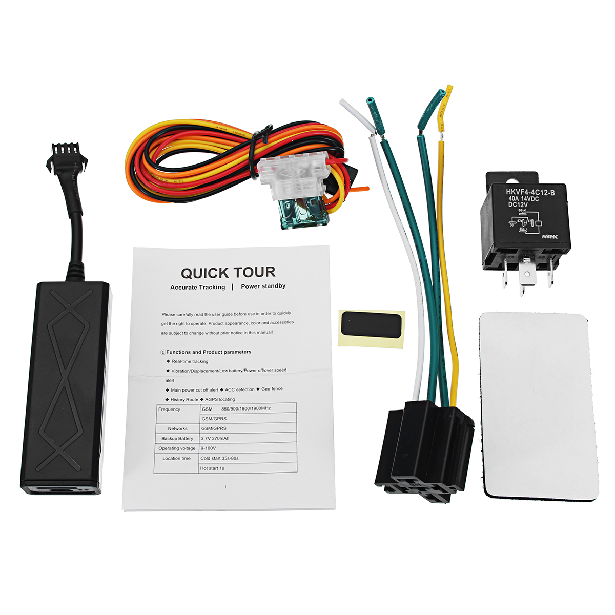 12V-100V Smart GPS Tracker Locator For Car Motorcycle Scooter GT002C