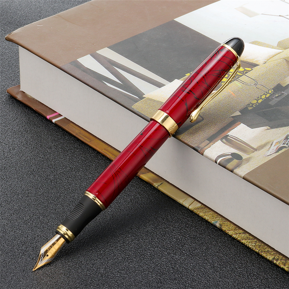 Jinhao X450 0.7mm Metal Fountain Pen Luxury Golden Clip Smooth Writing Pen Office School Supplies