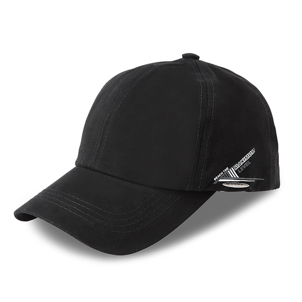 Mens Women Simple Solid Curved Baseball Hat Outdoor Sport Breathable Snapback Sunshade Hats