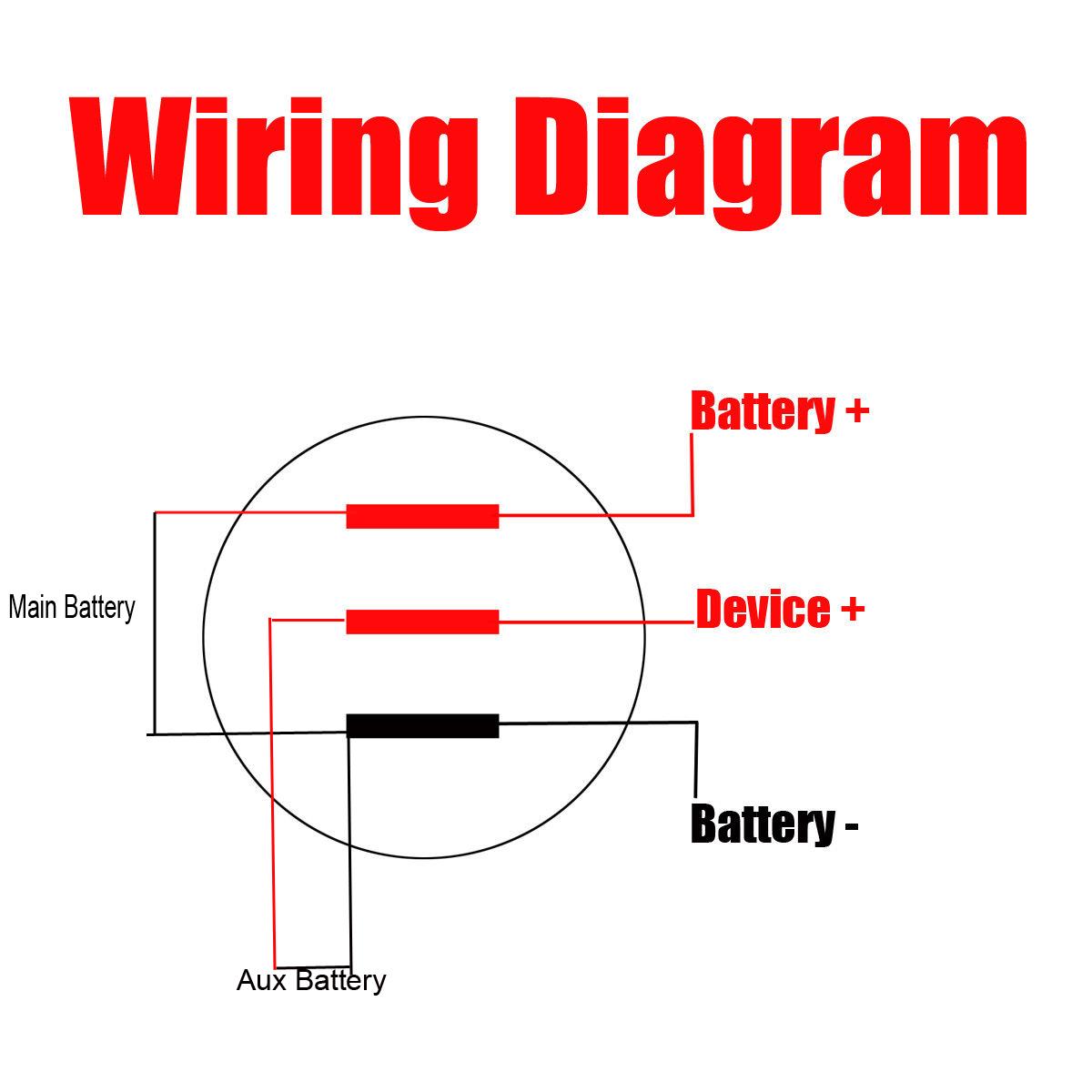 motorcycle voltmeter wiring diagram 10 60v led dual voltmeter voltage gauge digital panel dashboard  10 60v led dual voltmeter voltage gauge