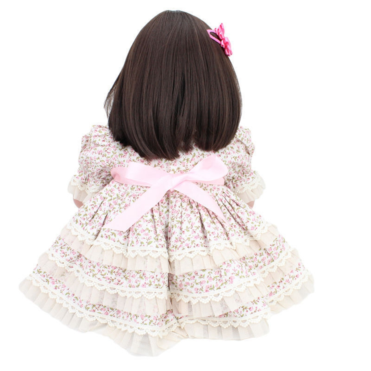 NPK 20 Inch 51cm Reborn Baby Newborn Soft Silicone Doll Handmade Lifelike Baby Girl Dolls Play House Toys Birthday Gift