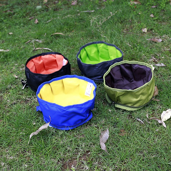 Collapsible Waterproof Pet dog Bowl Portable Travel Bowl Foldable Expandable Cup Dish for Pet
