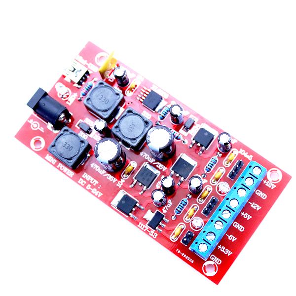 Original Hiland DIY USB Boost Single Turn Dual Power Linear Regulator Multiple Output Power Module Kit