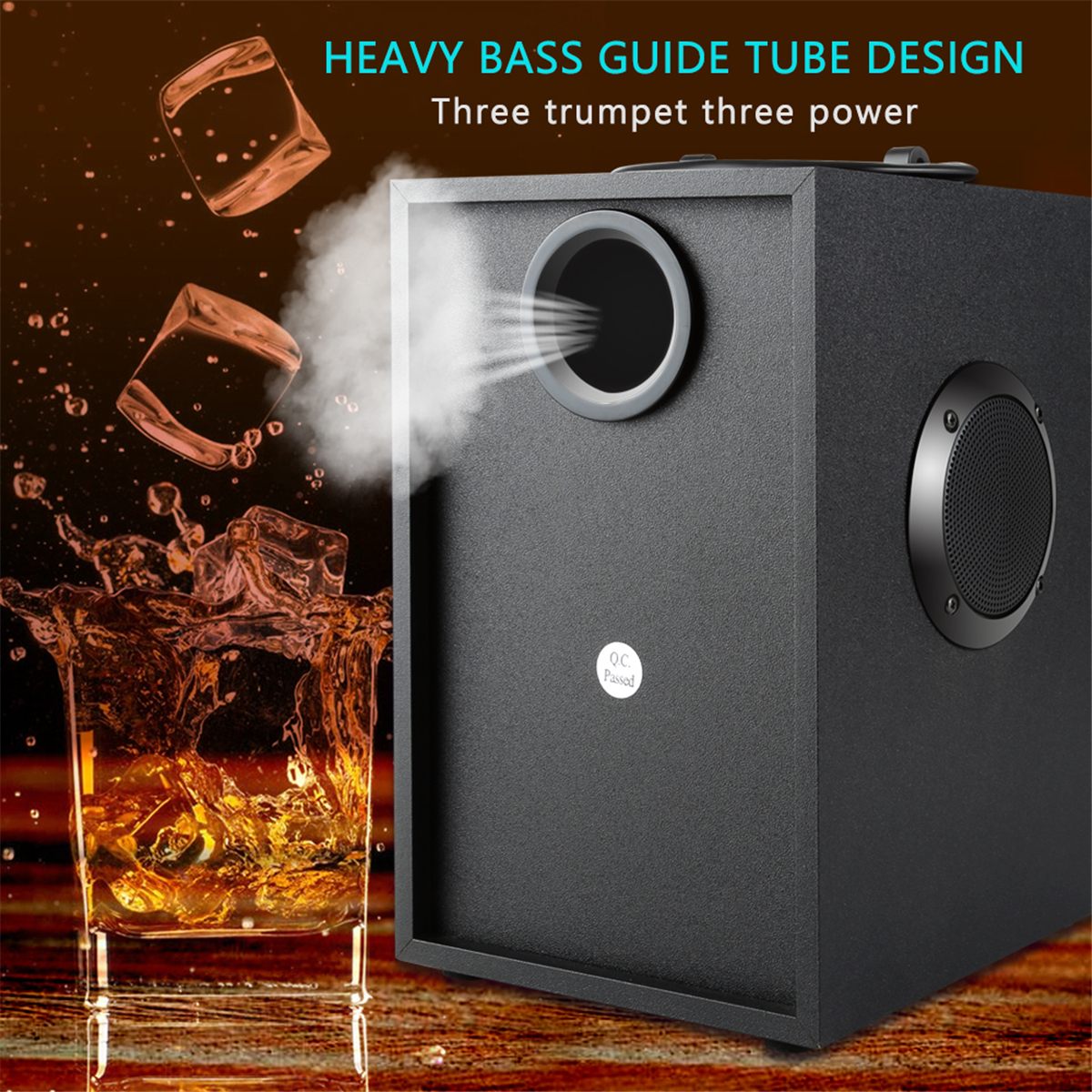 Subwoofer Heavy Bass Wireless Big Speaker Boombox Sound Box Support FM TF AUX