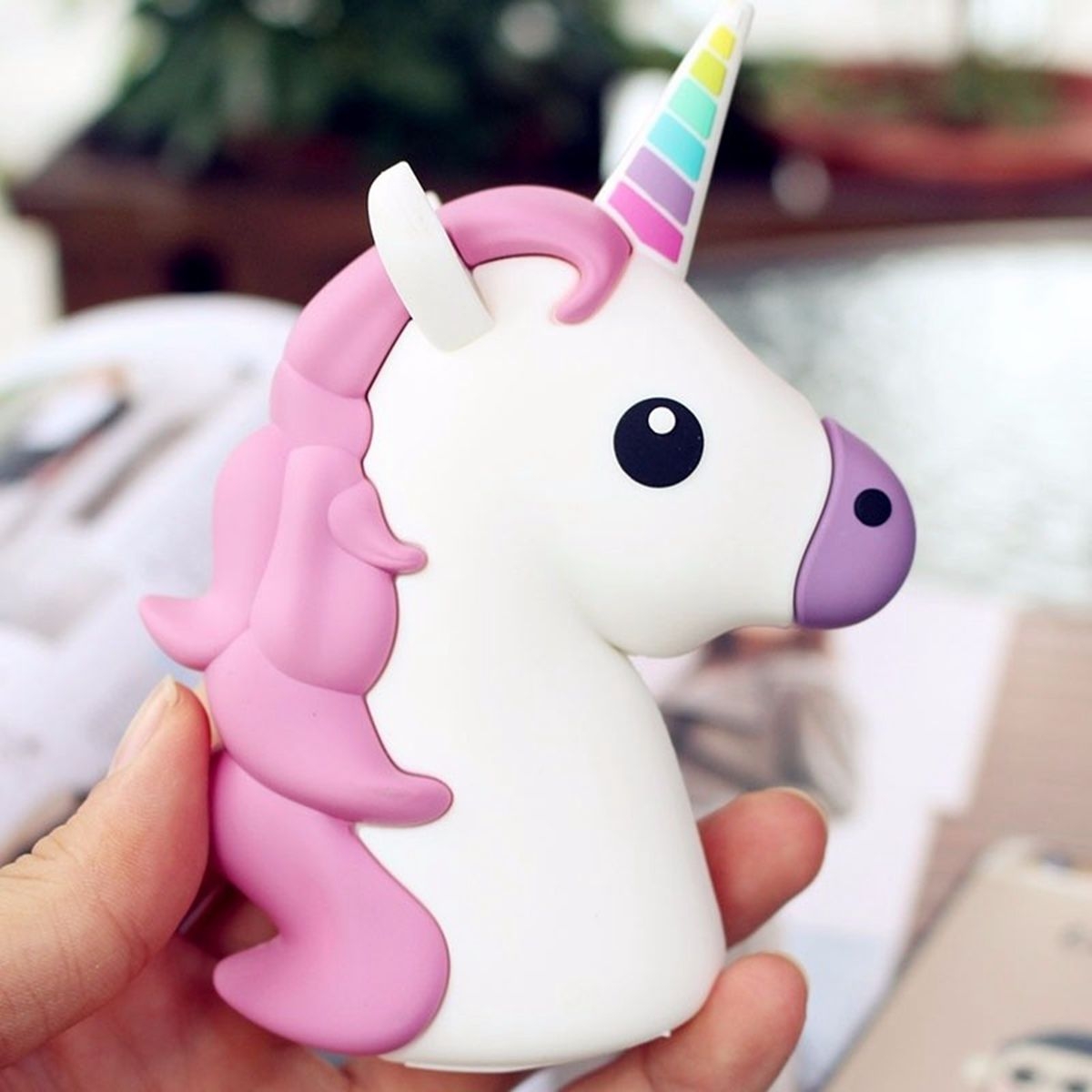 Unicorn Shaped Portable Backup Battery 2600mAh Power Bank for Xiaomi 6 Samsung S8 iPhone 7 Plus