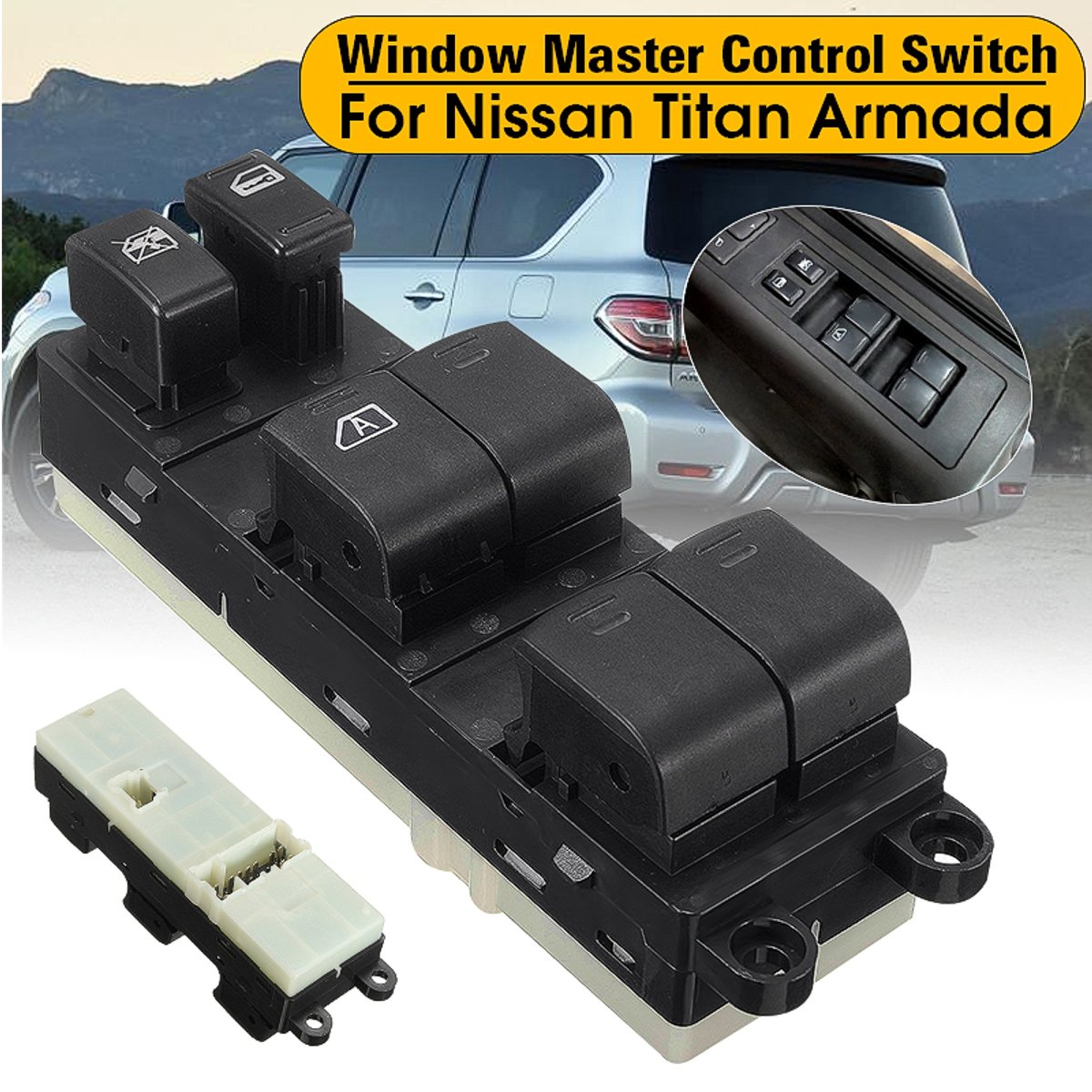 LH Side For Nissan Titan 2004-12 Master Electric Power Window Switch 25401ZT10A