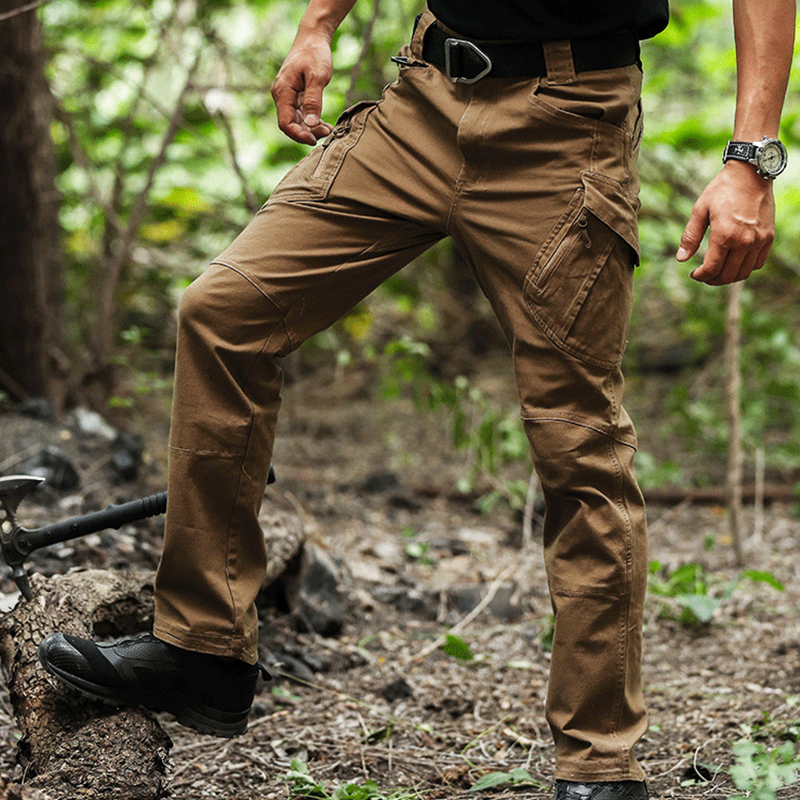 Men's Outdoor Multi-Pockets Water Repellent Tactical Pants