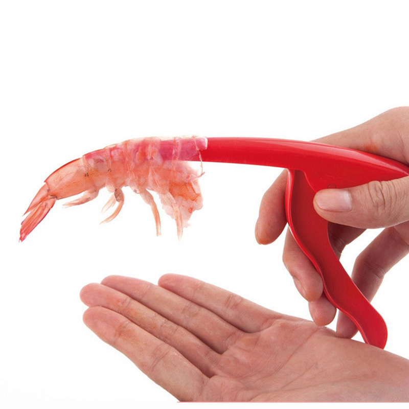 KCASA KC-SD087 Plastic Seafood Shell Prawn Curved Peeler Deveiner Shrimp Deveining Peeling Tools