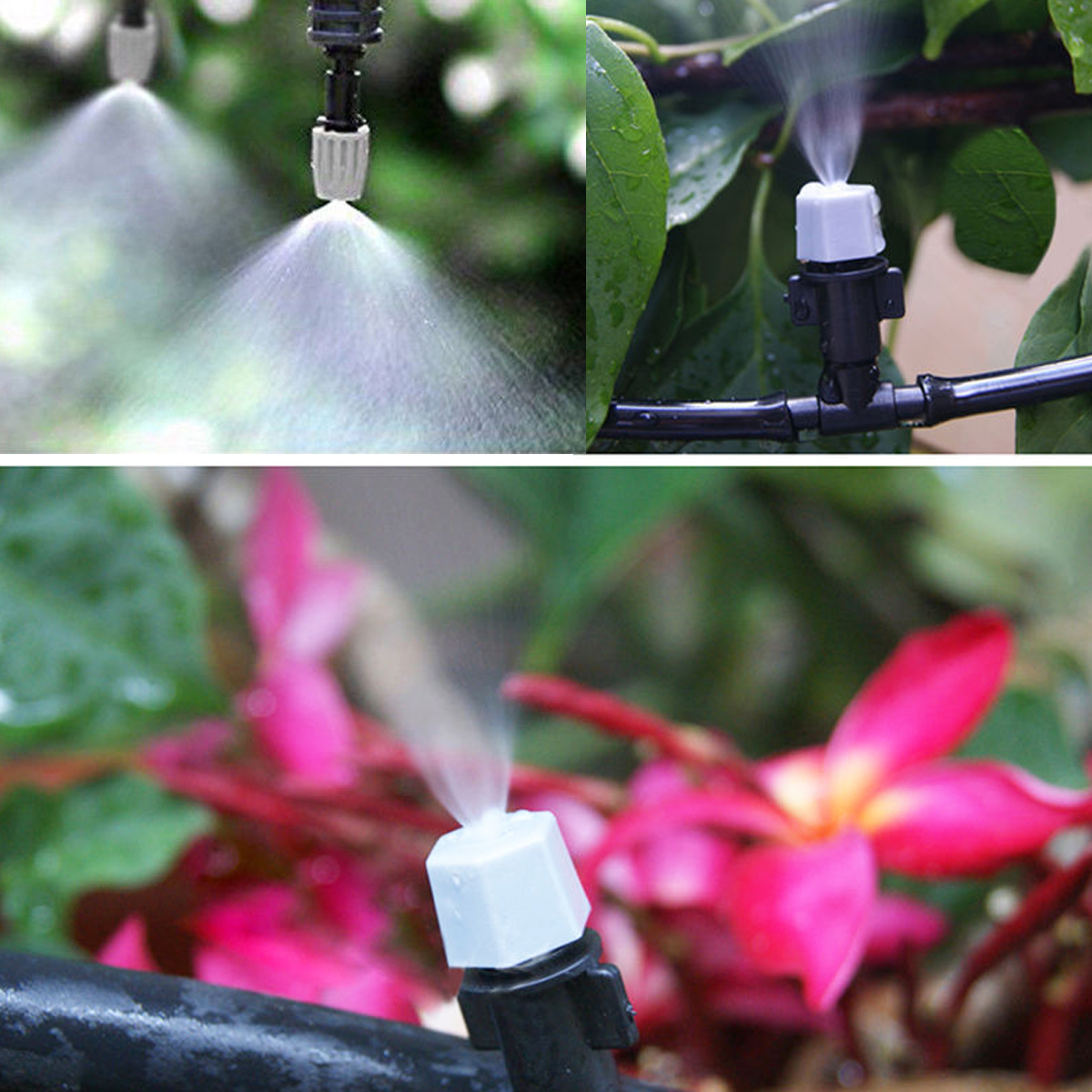 Air Misting Cooling Micro Irrigation System Sprinkler Nozzle Garden Patio Water Mister