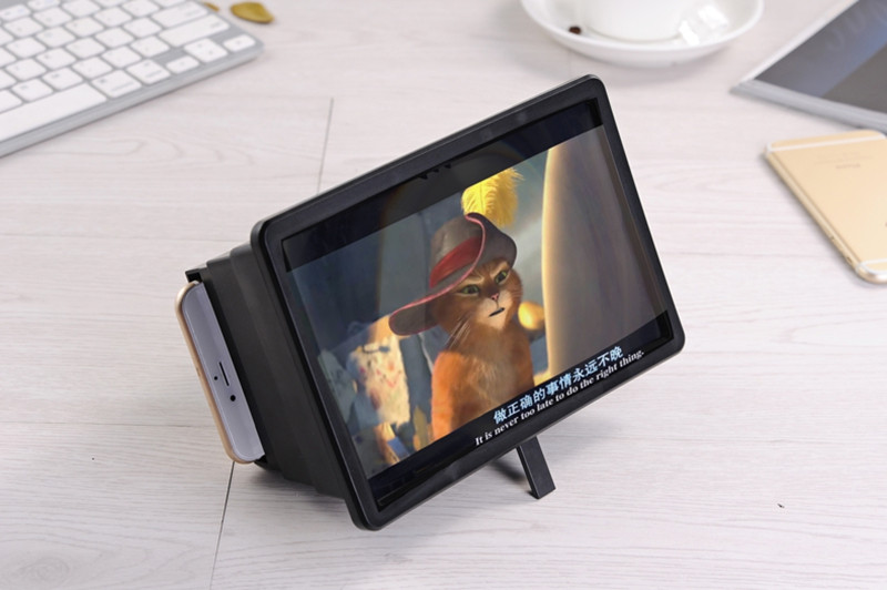 F2 Foldable Curve Screen Enlarge Screen Magnifier Phone Holder Stand