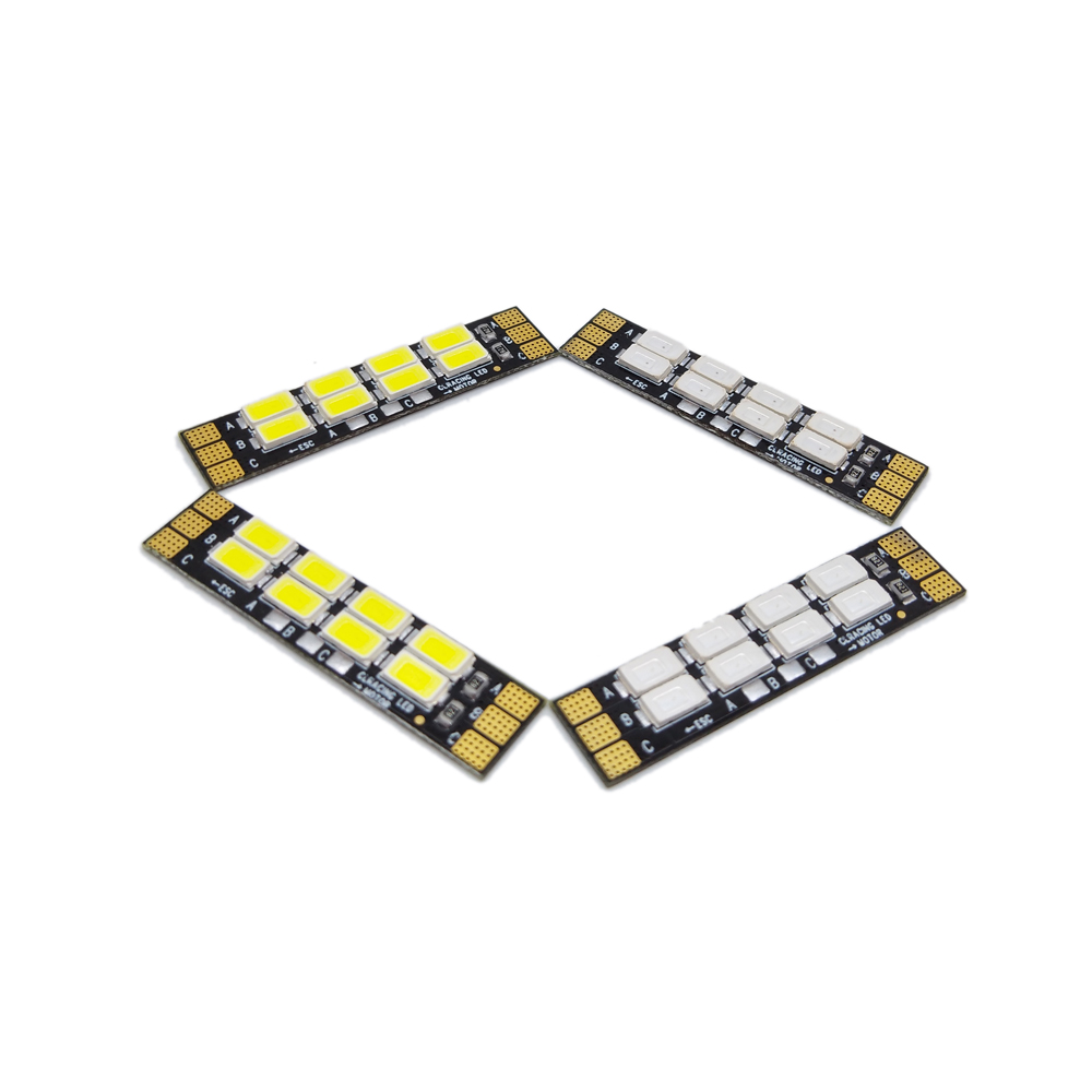 4 PCS Frame Arm LED Board Light 8 Bits 3-6S For RC Drone FPV Racing Multi Rotor
