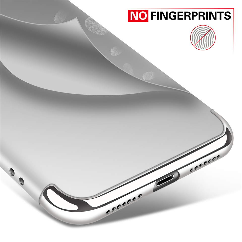 3 In 1 Plating Anti Fingerprint Hard PC Back Case For iPhone X