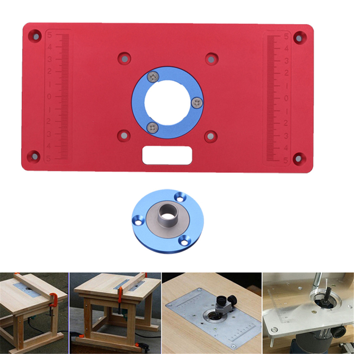 233x117x8mm aluminum router table insert plate for woodworking shipping methods greentooth Image collections