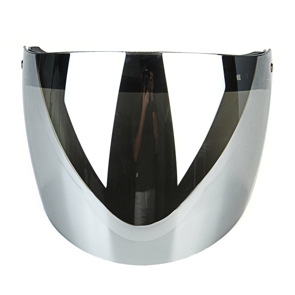 Flip Up Helmet Shield Lens Visor 3 Snap For Motorcycle Half Helmet Clear Silver