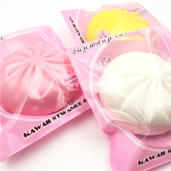 SquishyFun 13cm Kawaii Steamed Buns Squishy Original Packaging Slow Rising Food Collection Decor Toy