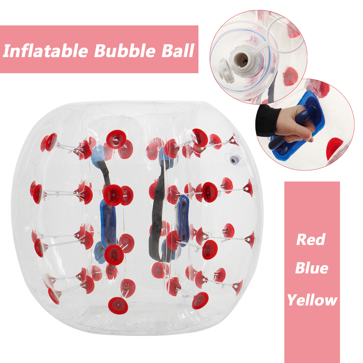 Outdoor Air Bubble Ball 0.8mm PVC 100cm Air Bumper Ball Soccer Body Zorb Ball Swimming Pool Game