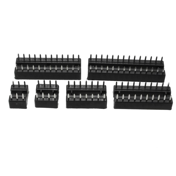 66pcs DIP IC Sockets Adaptor Solder Type Socket Kit 6/8/14/16/18/20/24/28 Pins