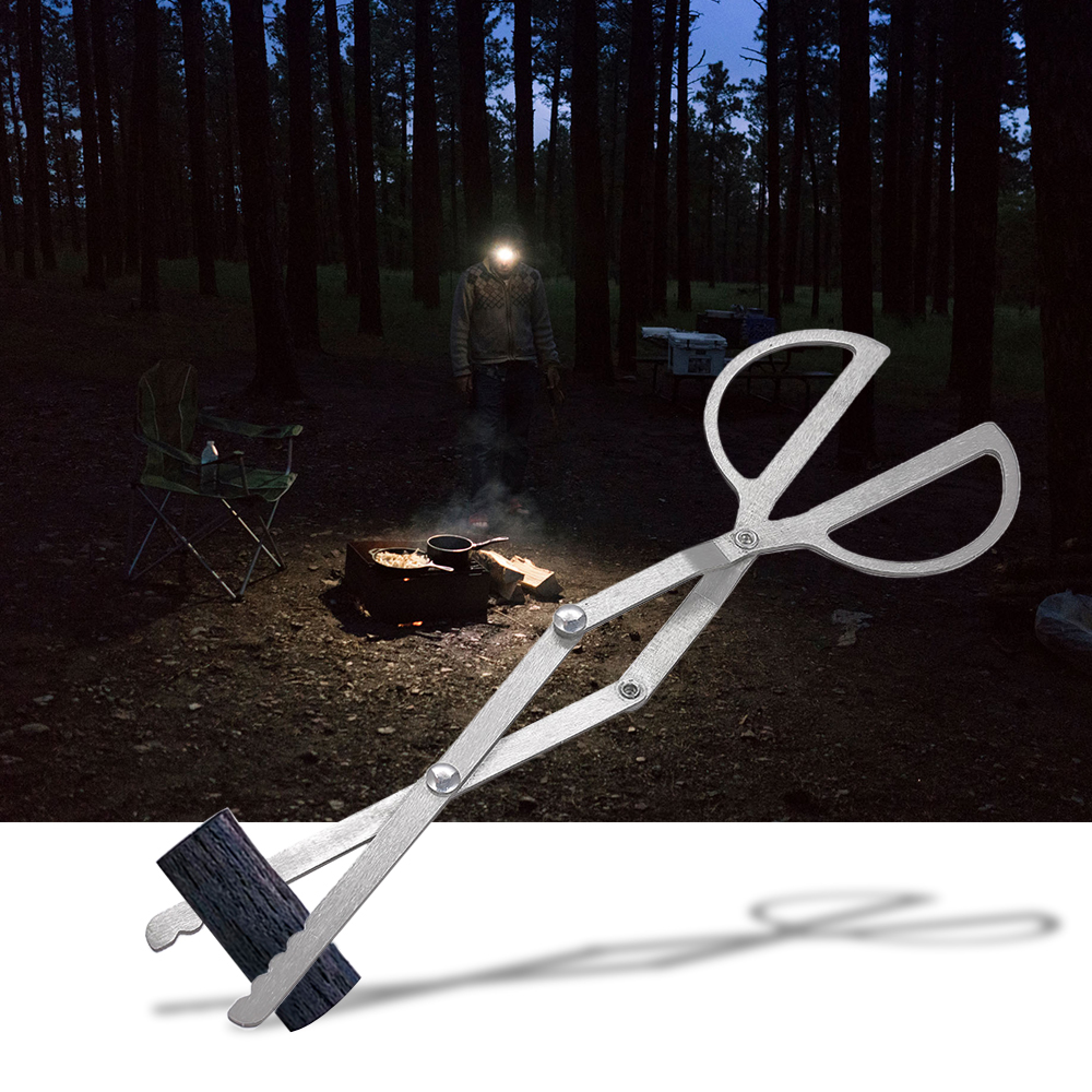 Folding Wood Tongs Log Grabber Tweezers Clamp Portable