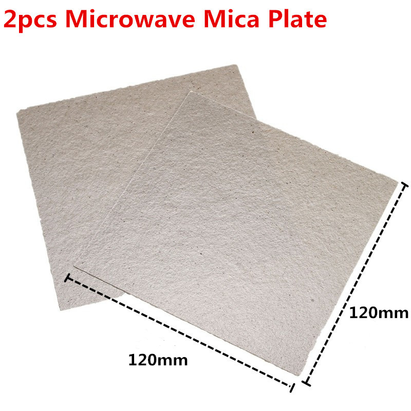 2pcs 120X120mm Microwave Mica Plate Microwave Common Accessories