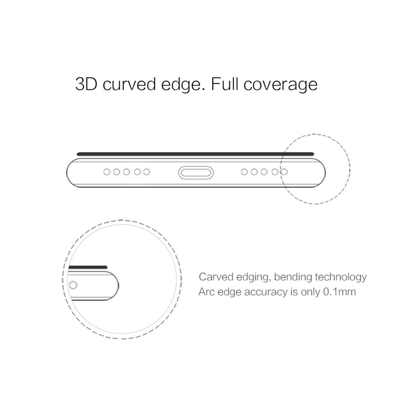NILLKIN CP+MAX Anti-explosion 3D Curved Full Cover 9H Tempered Glass Screen Protector for Huawei P20